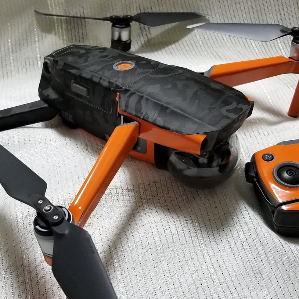 お客様事例ご紹介(Mavic 2 Pro グロスバーントオレンジ×ブラックシャドー)