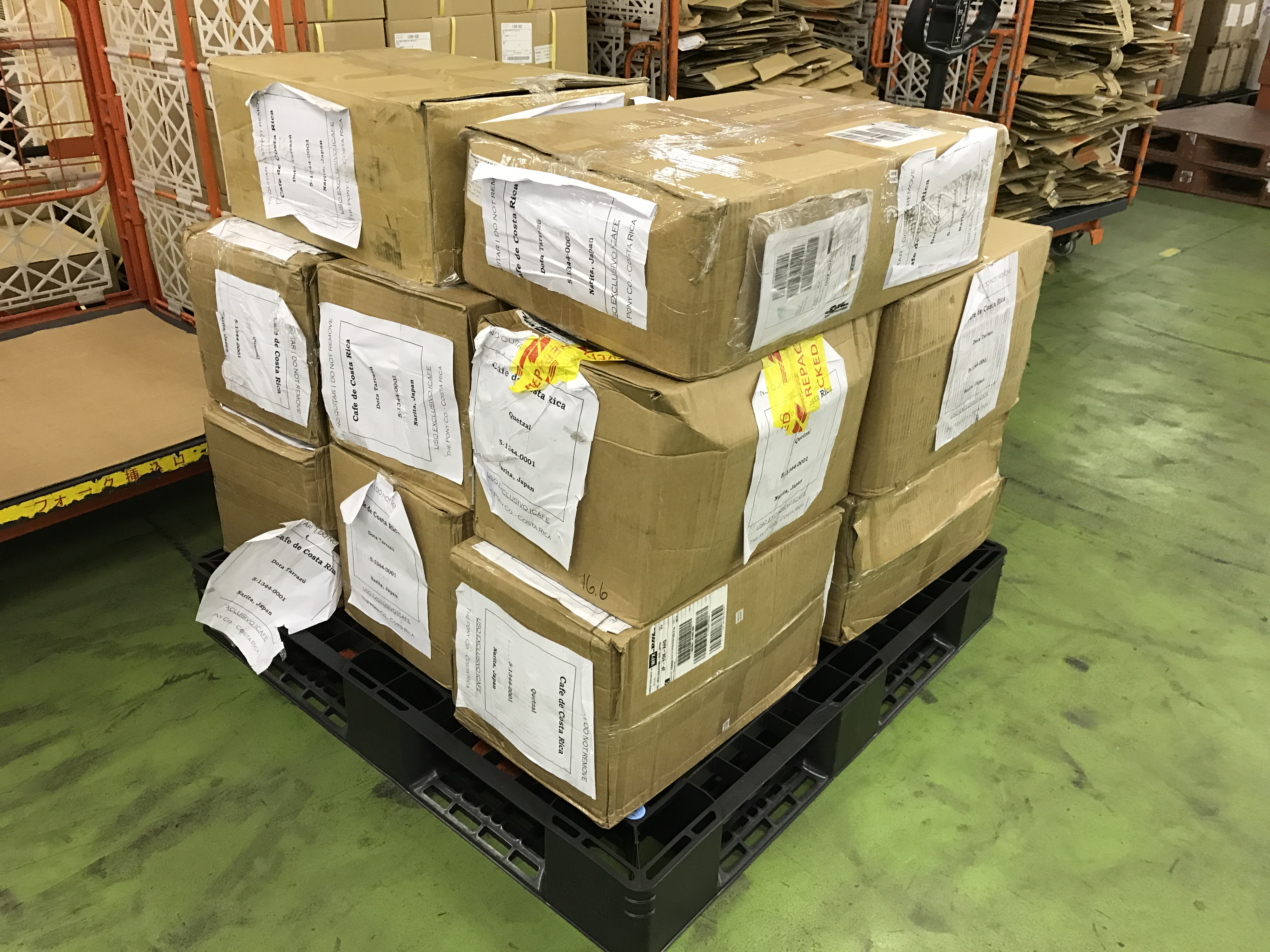 商品が倉庫に到着しました!