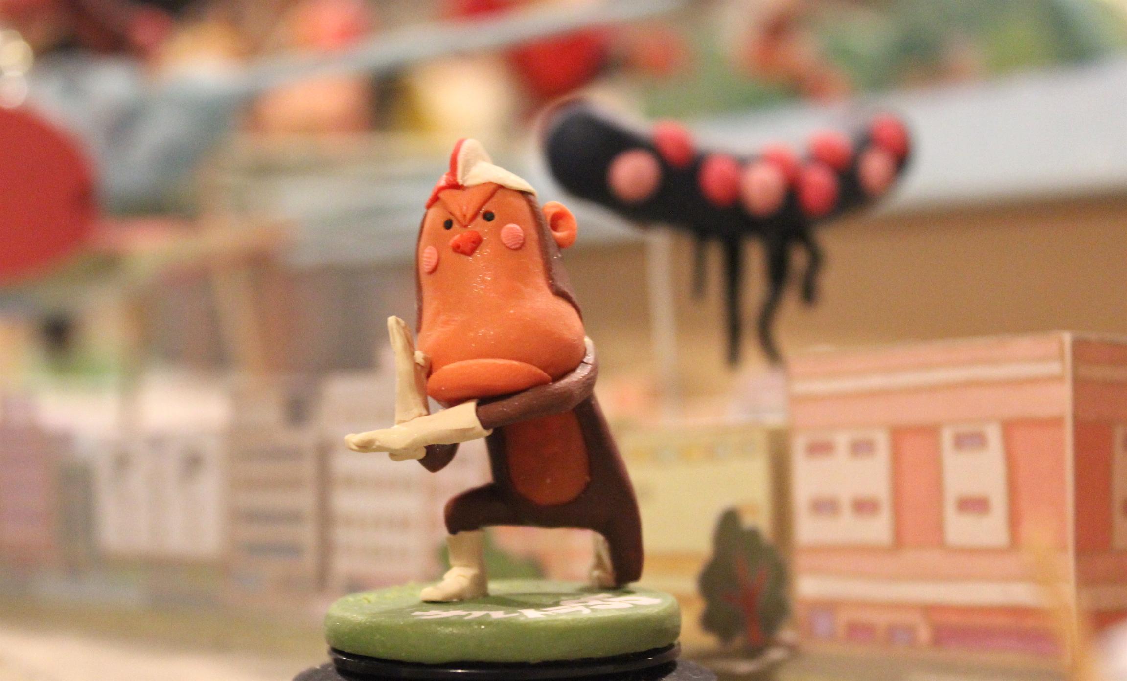 世界に1つ!おサルのヒーロー☆ハンドメイド樹脂粘土人形