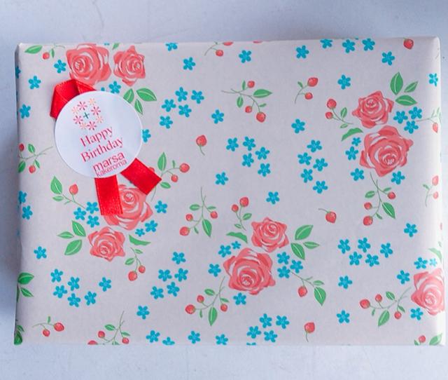 無料ラッピング【ギフトボックスに小花柄包装紙・1本用は透明袋にリボン  】