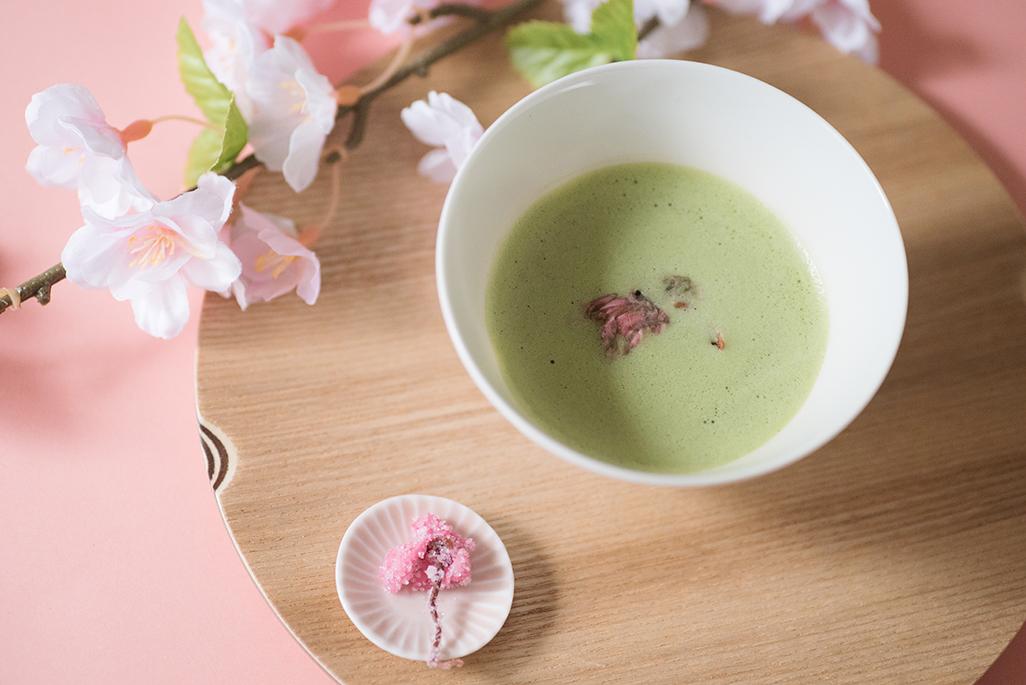 ふんわり…春の香り、さくらのお抹茶