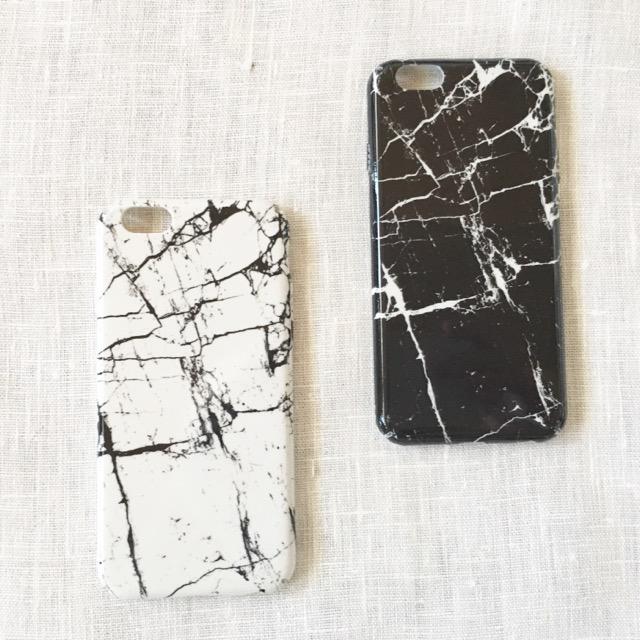 モノトーン大理石調iPhoneケース