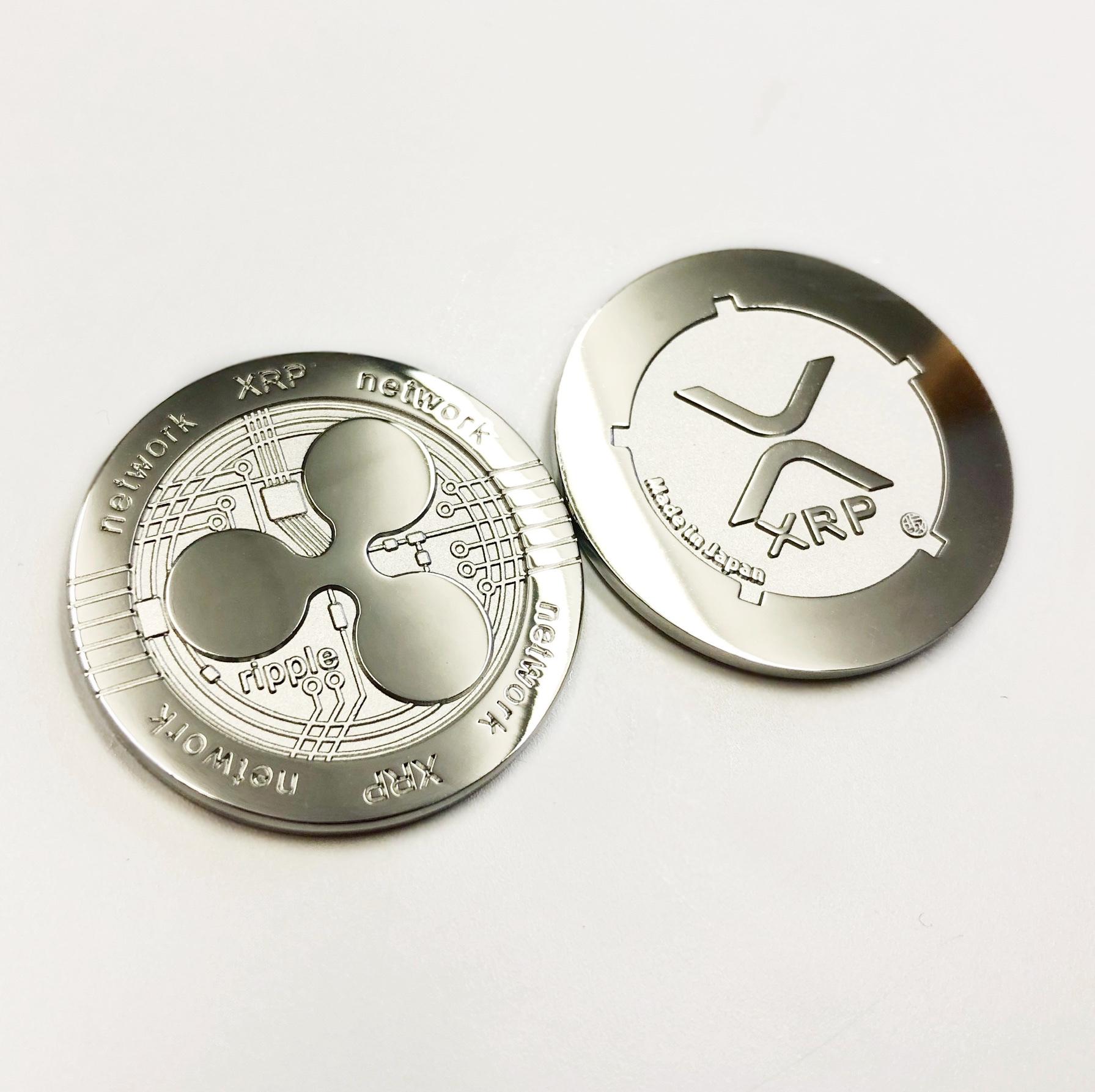 リップル XRP リアルメダル 製造完了、個数限定で初入荷!