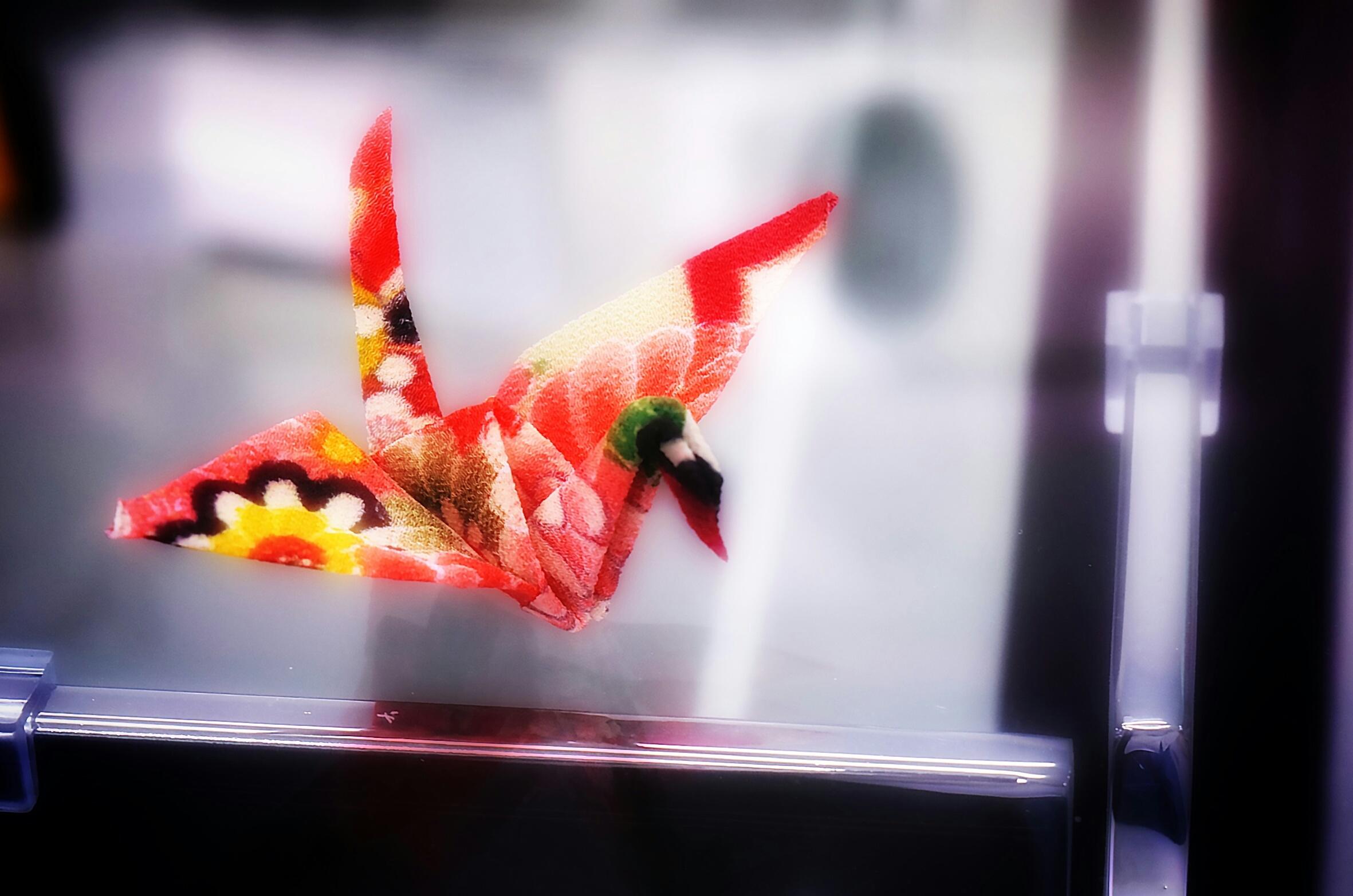 京ちりめんの折り鶴を作りたくて。。。