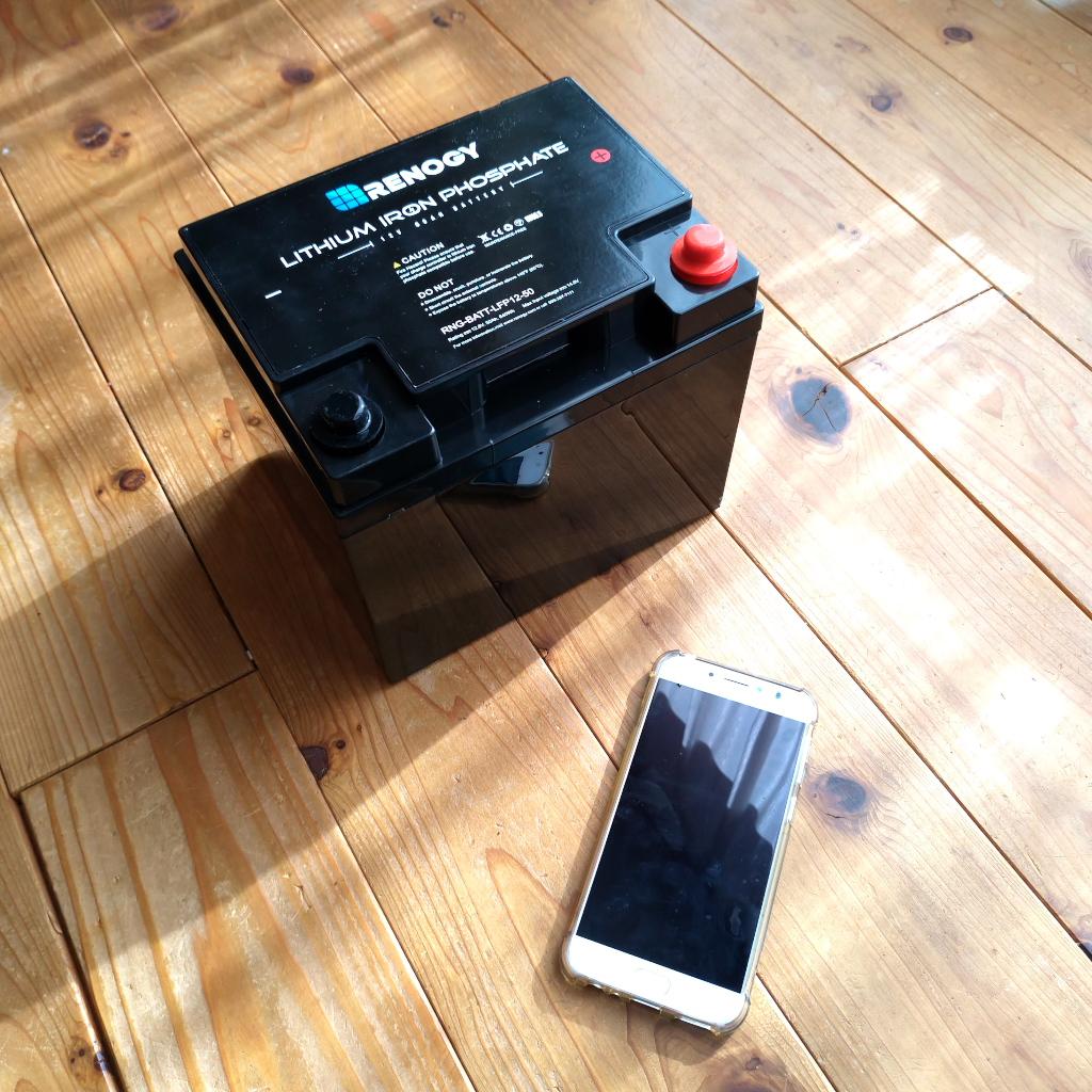 新採用のリチウムイオン充電池