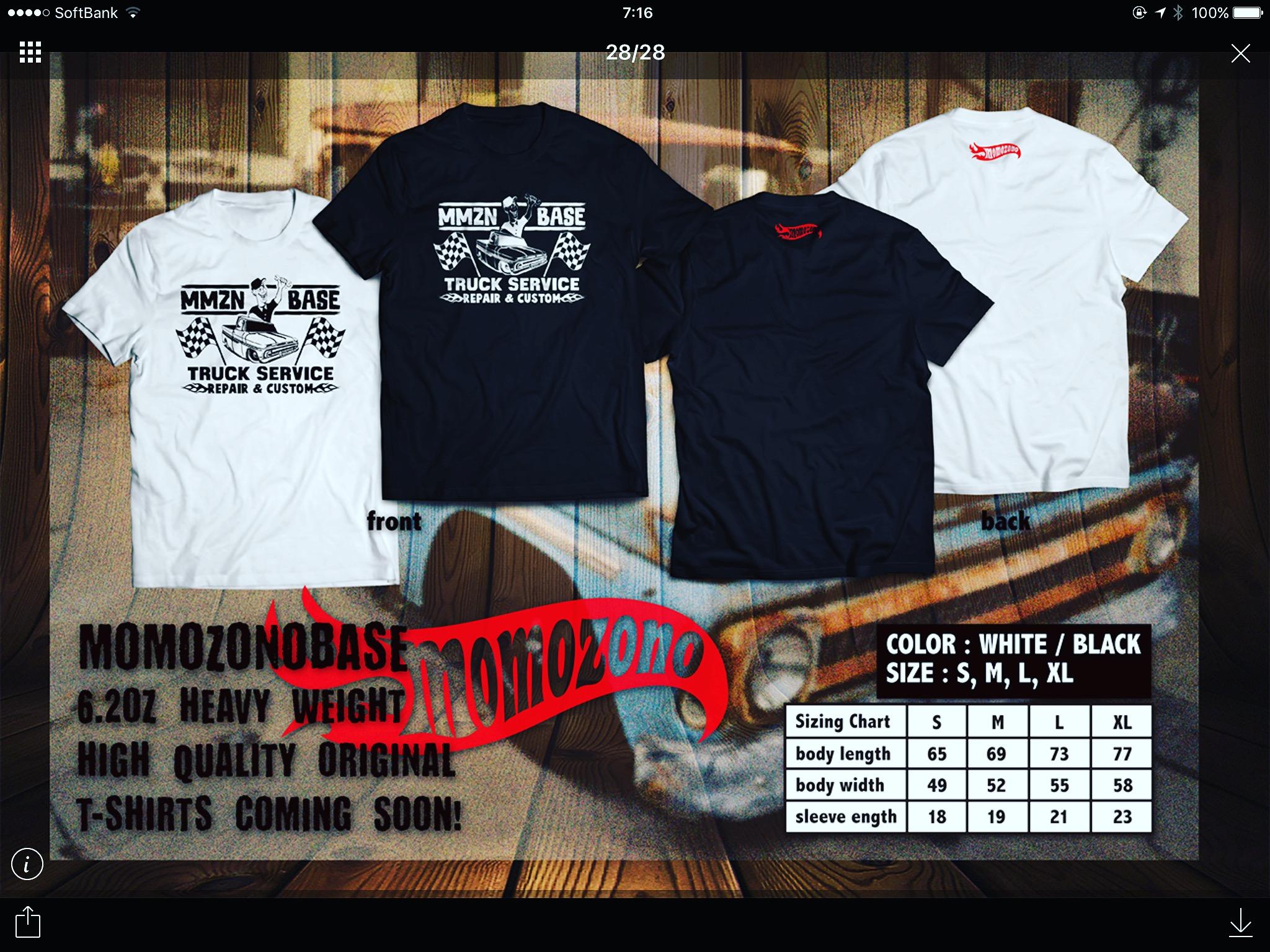MOMOZONO BASE オリジナルTシャツ ステッカー近日発売決定