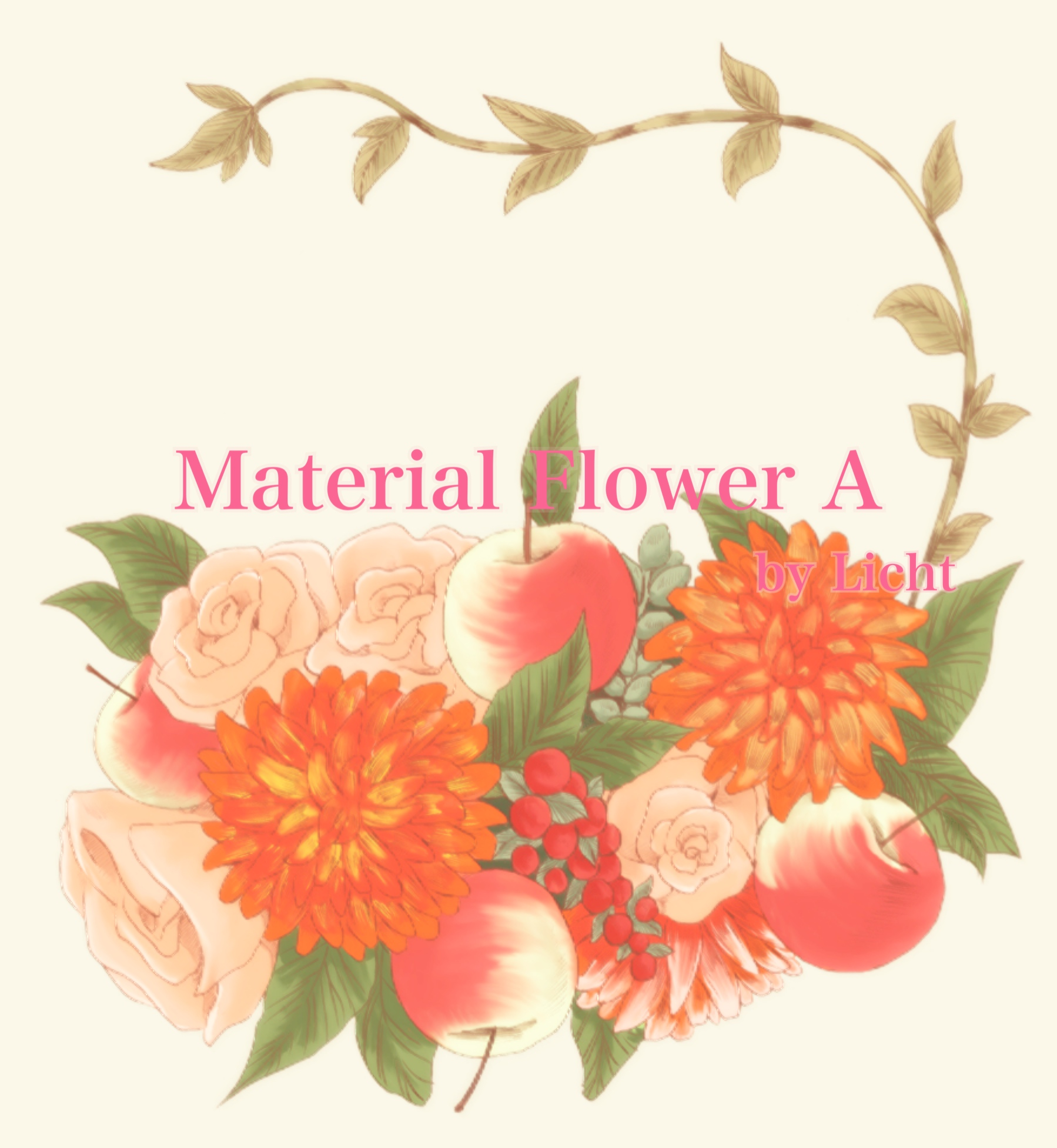 *お花イラスト素材の販売を開始しました。