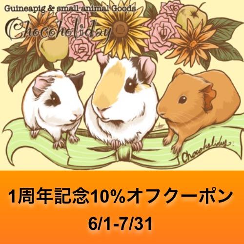 *Chocoholiday一周年記念クーポン配布中!