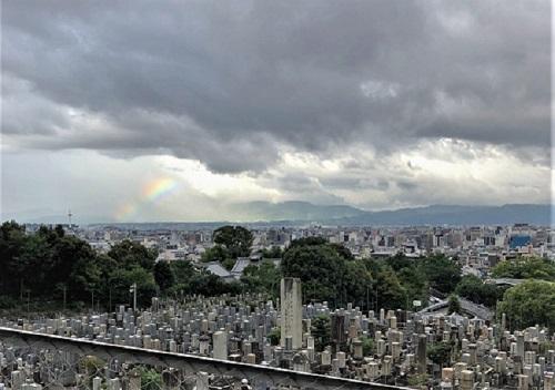 京都市内に虹が。