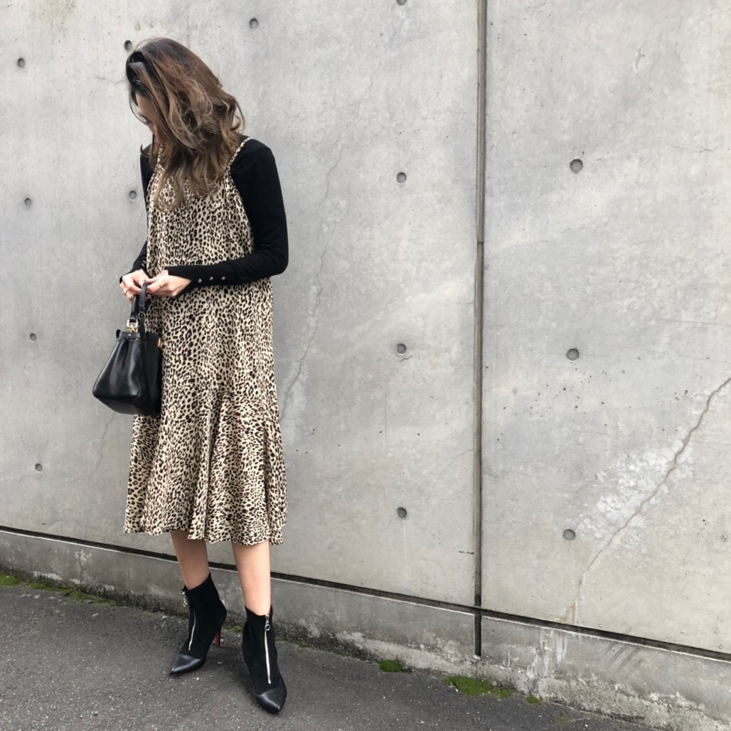 【leopard cami onepiece】