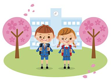 〈商用可〉幼児・小学生のイラスト素材販売開始!入学式のイメージも。