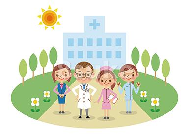 〈商用可〉医者・看護師・介護など、医療系人物イラスト販売開始。1キャラクターに複数のバリエーション!