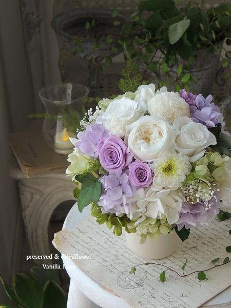 新作のお供え花とオーバルアレンジメントをアップしました!