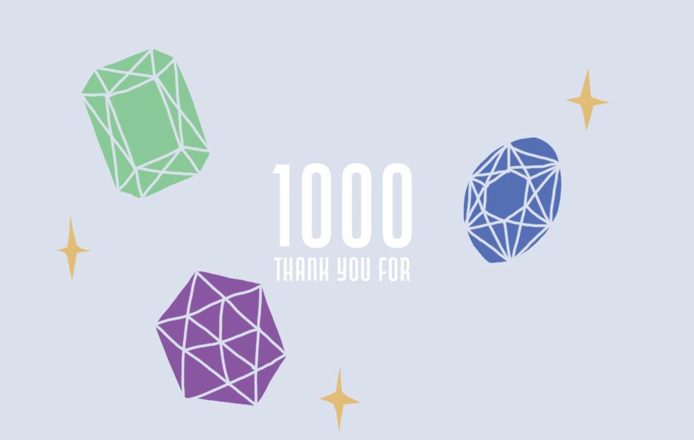 1000オーダーありがとうございます