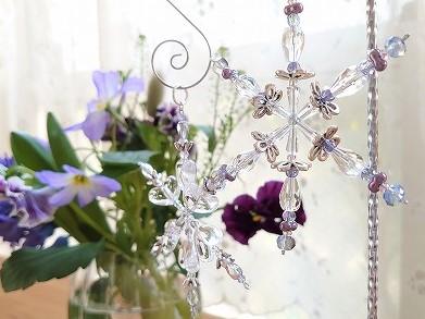Beaded Snowflakes Ornaments  雪の結晶のオーナメント