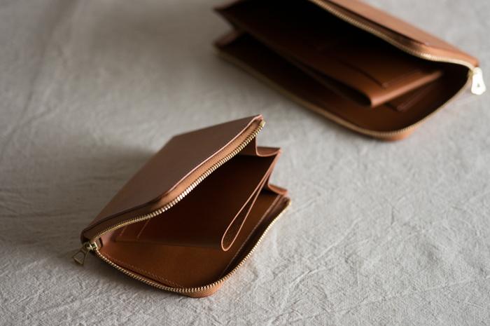 [リニューアル]革の財布 Cognac