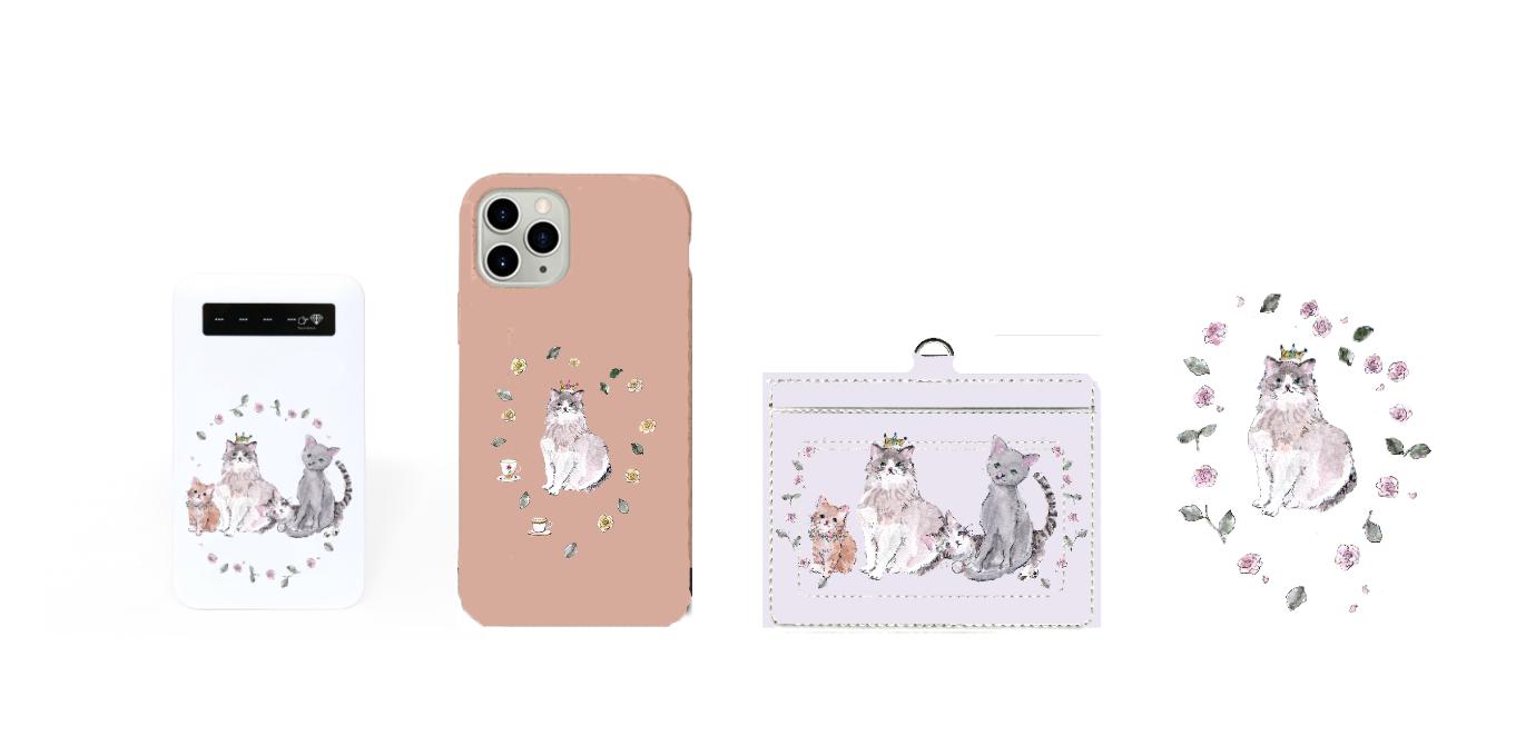 ミルクティー《猫と薔薇》iPhoneケース3/14予約発売