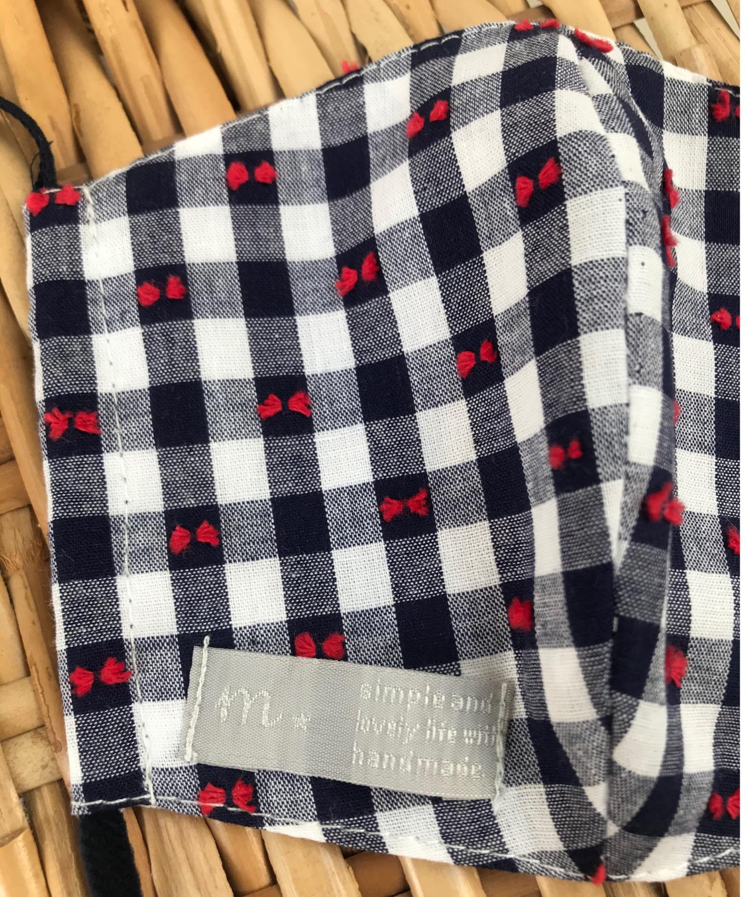 ドビー織りのコットンギンガム