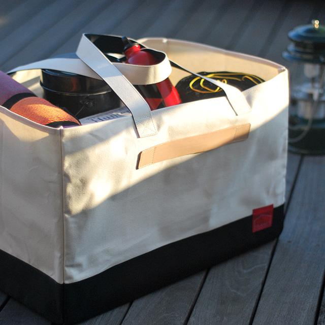 キャンプ道具を一気に運ぶ!大容量帆布バッグ「CAMP BAG」
