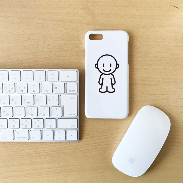 大人カワイイ!どこへ行くにもEeQ と一緒 iPhone 7ホワイトケース