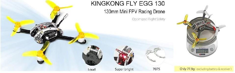 KingKong FLY EGG 130競技用ミニドローン(ブラシレスモーター付き)を近日発売します