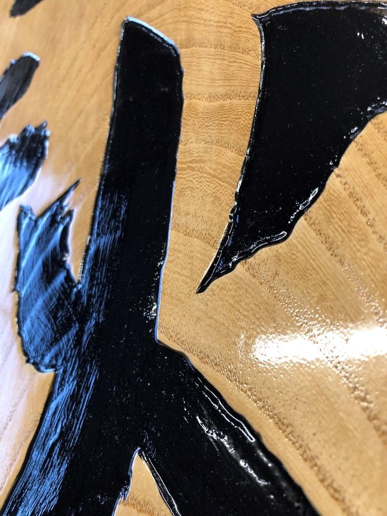 看板のレーザーと塗装