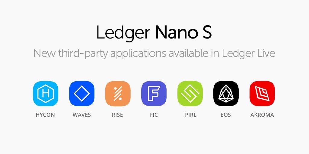 Ledger Nano SにEOS他外部ウォレットでの対応通貨が増えました