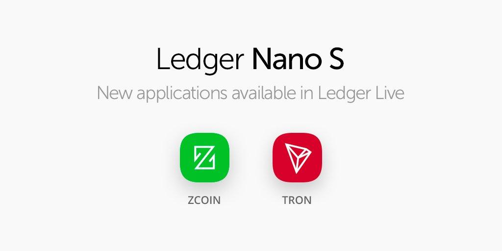 Ledger Nano SでTRON(TRX)の保管ができるようになりました。