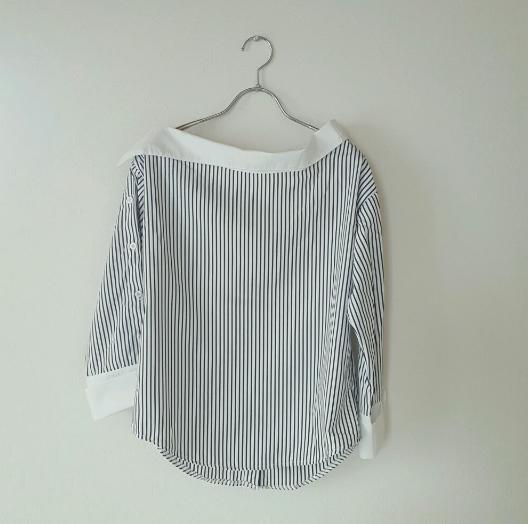 斬新!ストライプシャツの定番を裏切るオシャレなニューデザイン♡