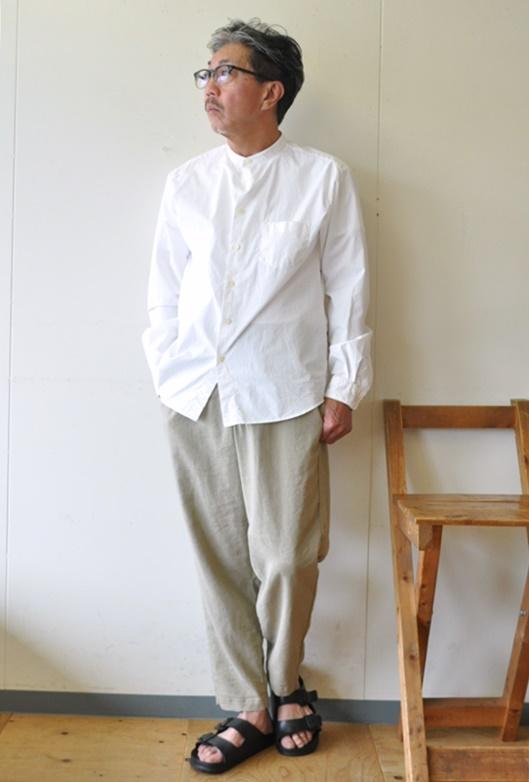 7月17日 今日のコーディネート ホワイトシャツに 麻のワイドパンツとのコーデ