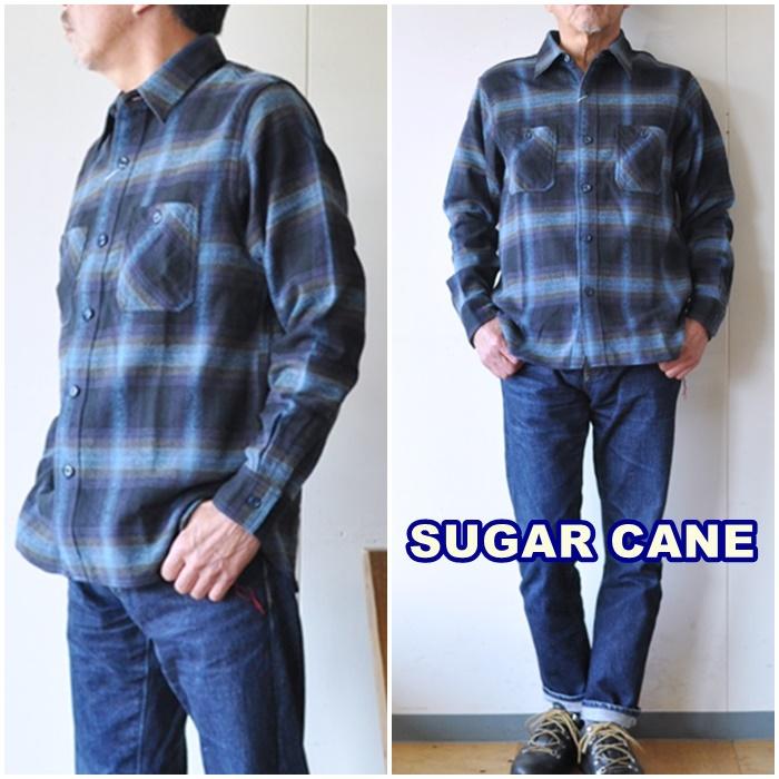 SUGARCANE  シュガーケーン ツイルワークシャツ sc28743 チェックネルシャツ