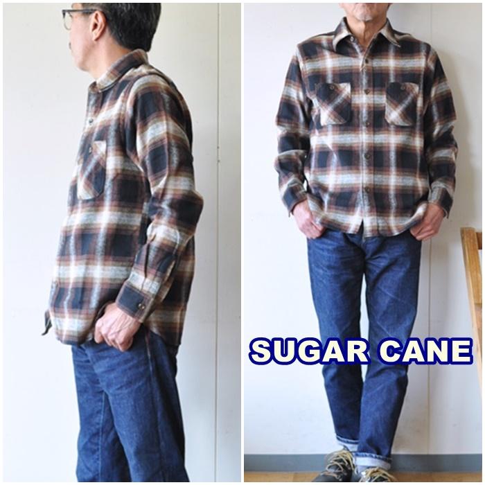 SUGARCANE  シュガーケーン ツイルワークシャツ sc28743