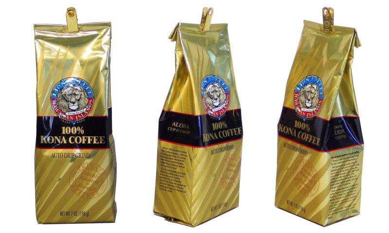 ライオンの100%コナコーヒー、パッケージが変わりました