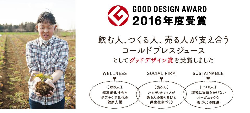 2016年度グッドデザイン賞を受賞しました!