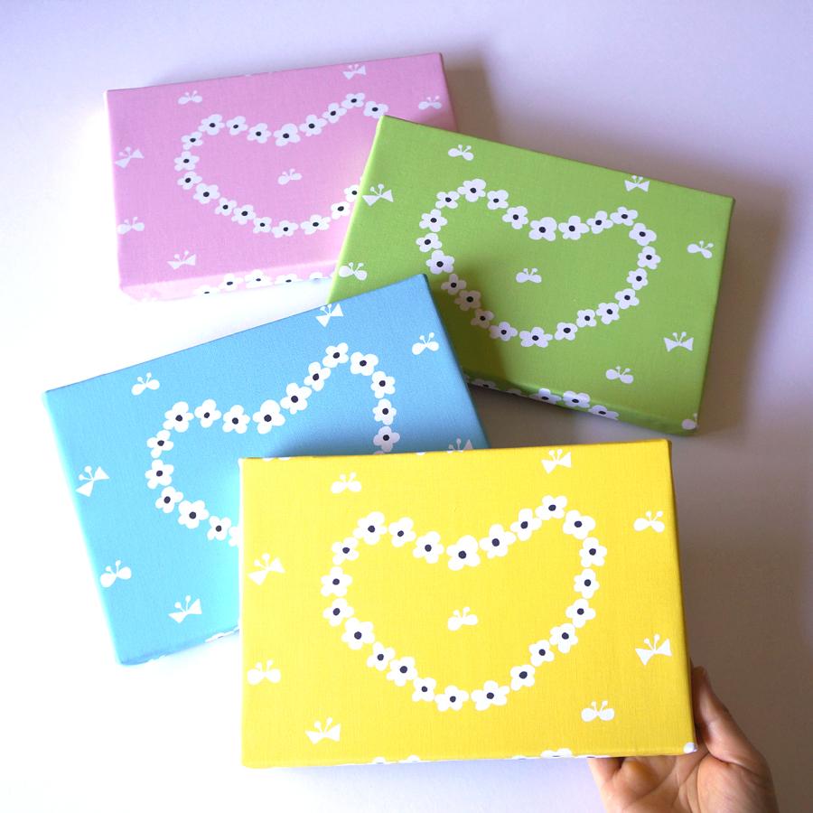 新作ファブリックパネル「humming heart」4カラー出来上がりました☆彡