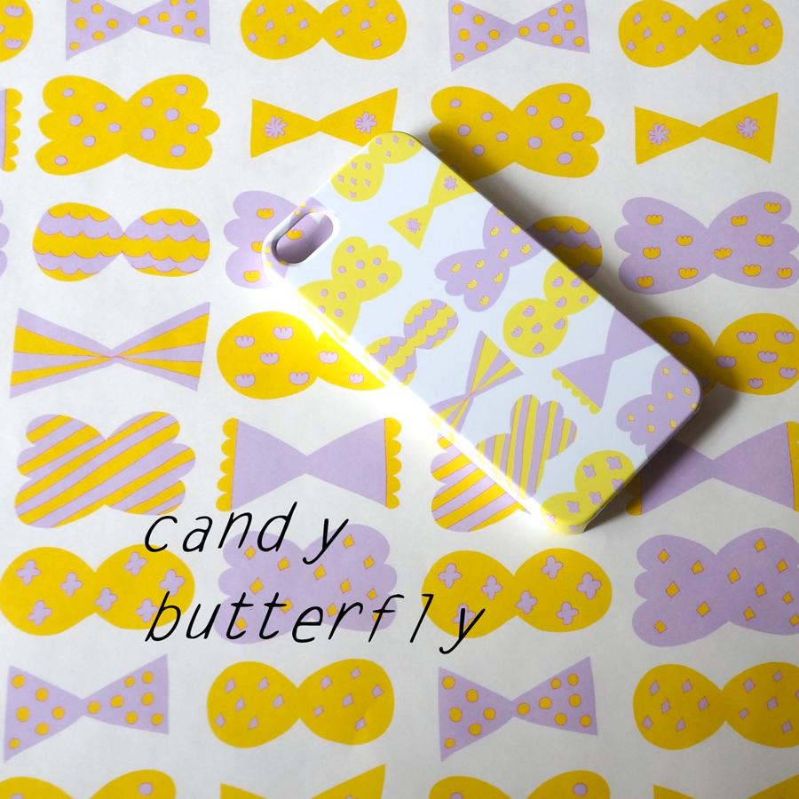 新作「candy butterfly」ハードケース型スマホケース4つのカラーが出来上がりました♡
