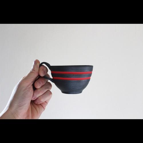 陶芸作家【酒井智也】個性引き立つ黒と赤のコントラストが目を惹く新作のコーヒーカップ入荷!