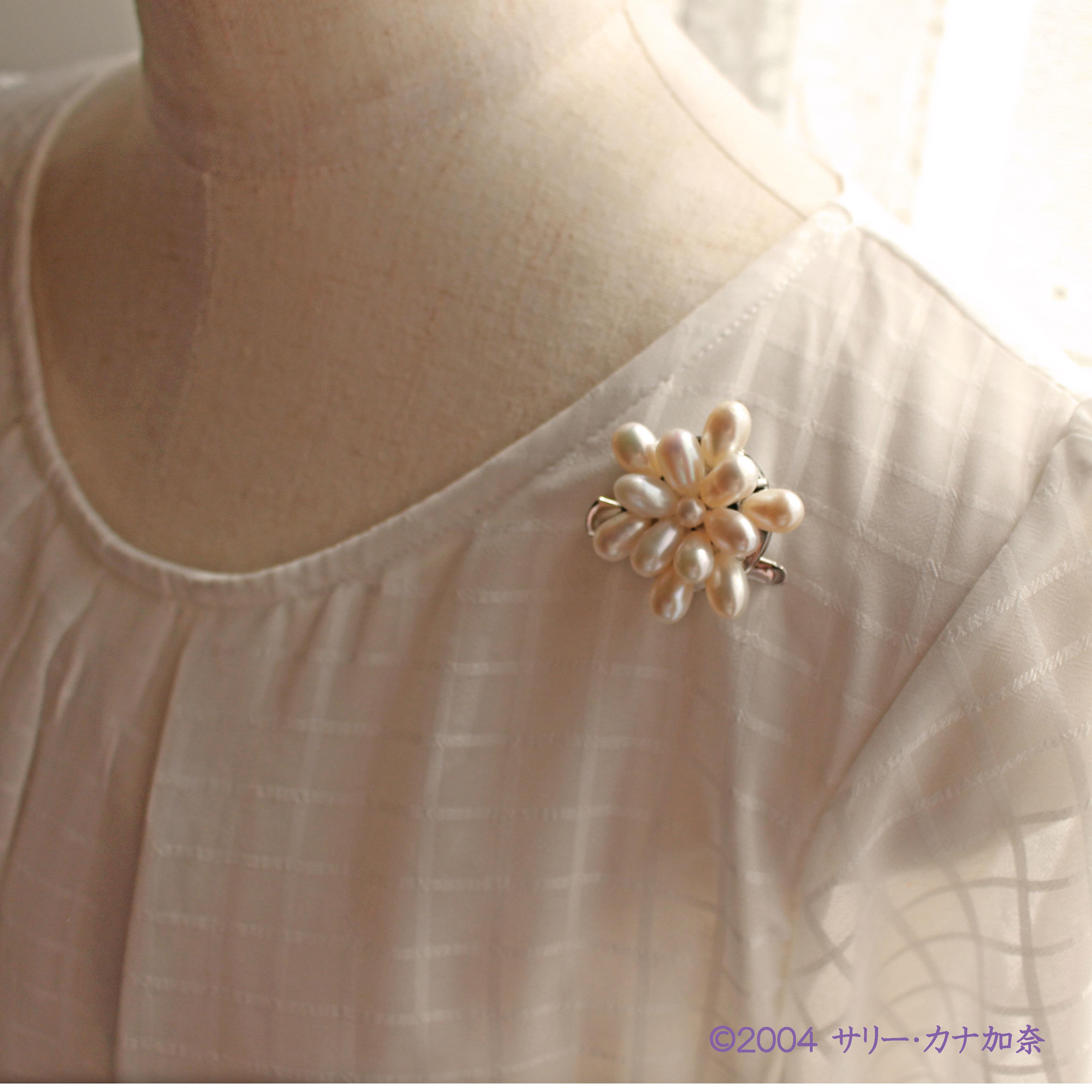 真珠・淡水パールを身につけたい方へ、ブローチはいかがでしょうか。