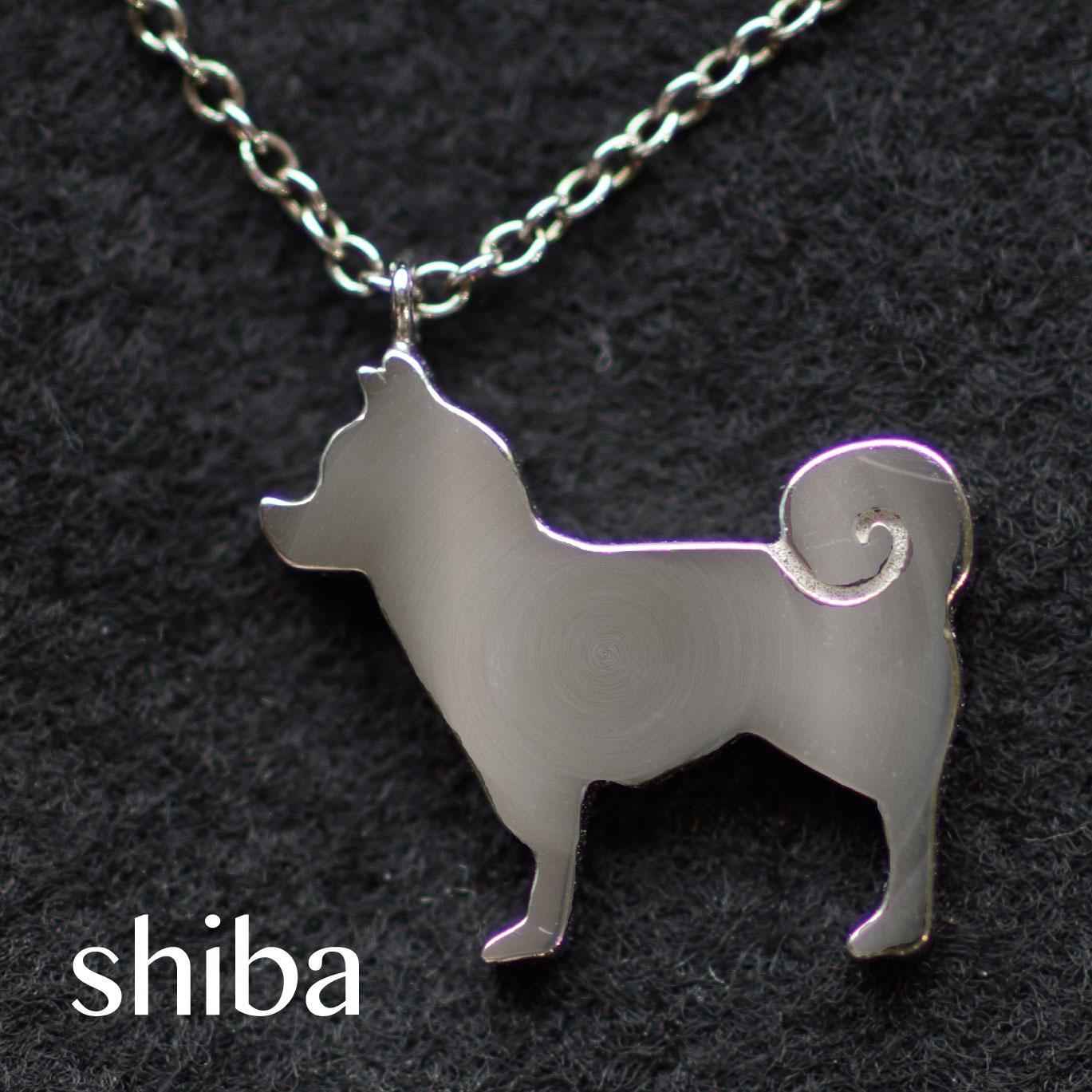 イヌ派の貴方へ!ワンちゃんのシルエットネックレス*jiro collection*