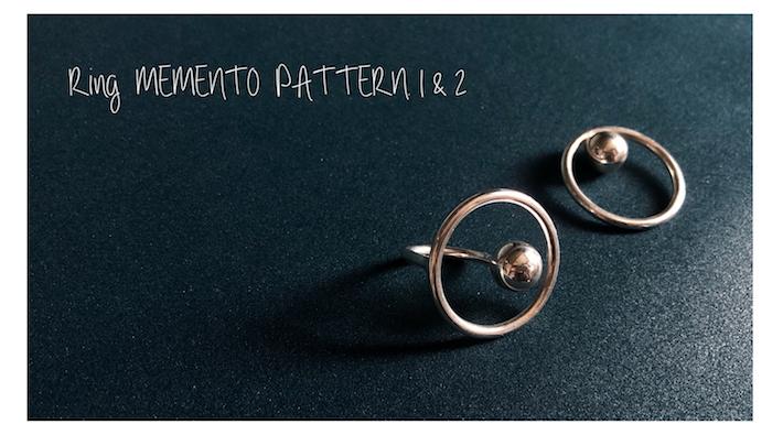 Ring MEMENTO PATTERN.1&2の大きさ感について