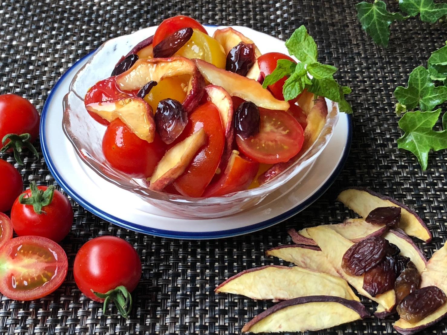 【トマトと桃のマリネ】