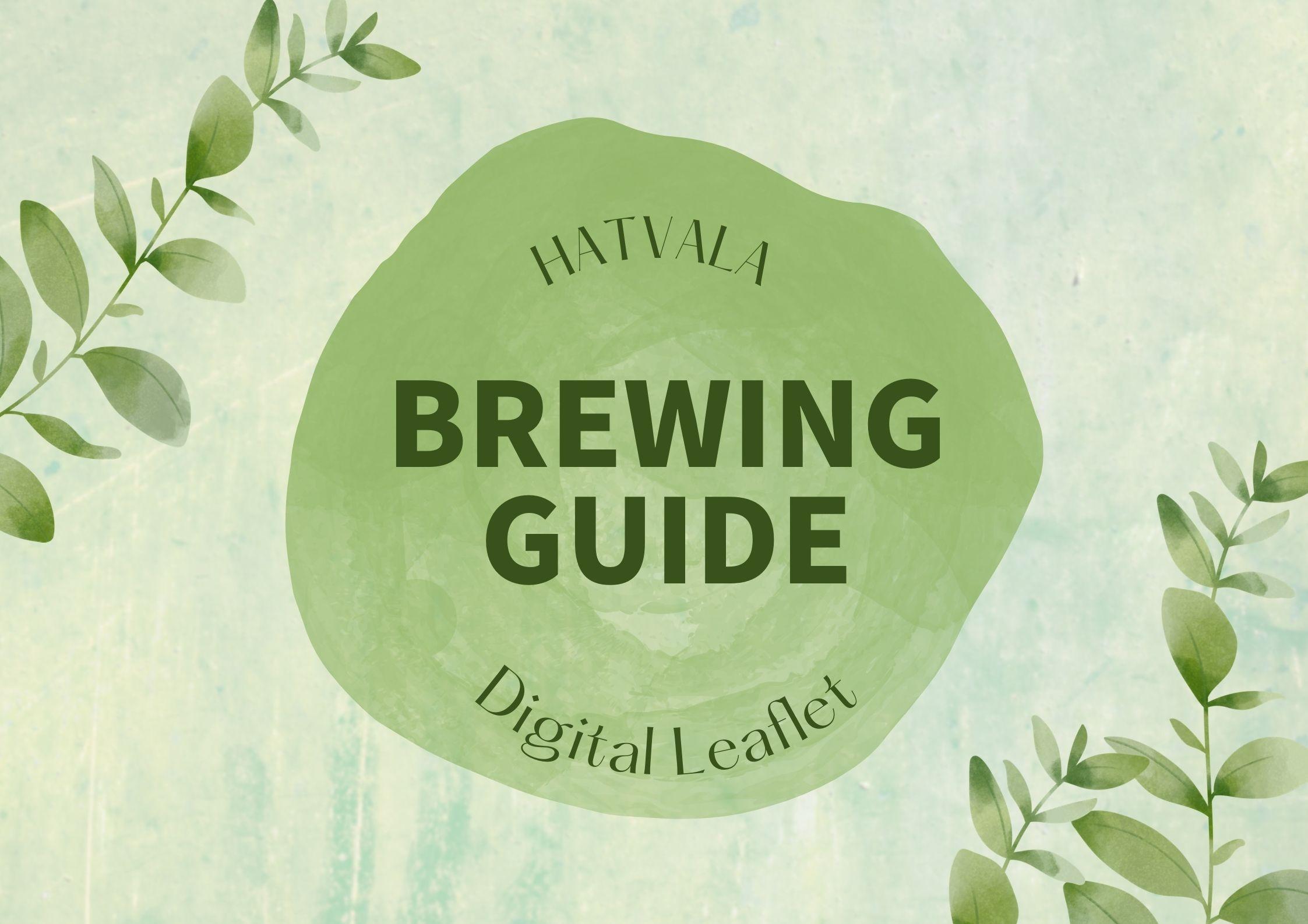 【Brewing Guide】HATVALA ハトヴァラ 茶葉のおいしい淹れ方