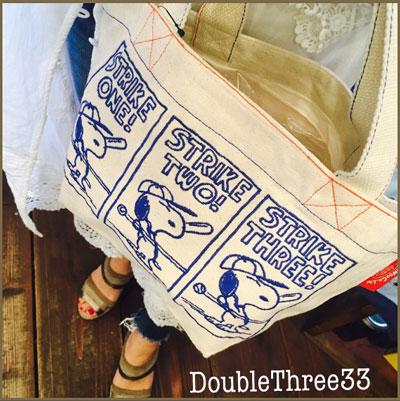 【新商品】スヌーピーの刺繍が可愛いランチトート♪