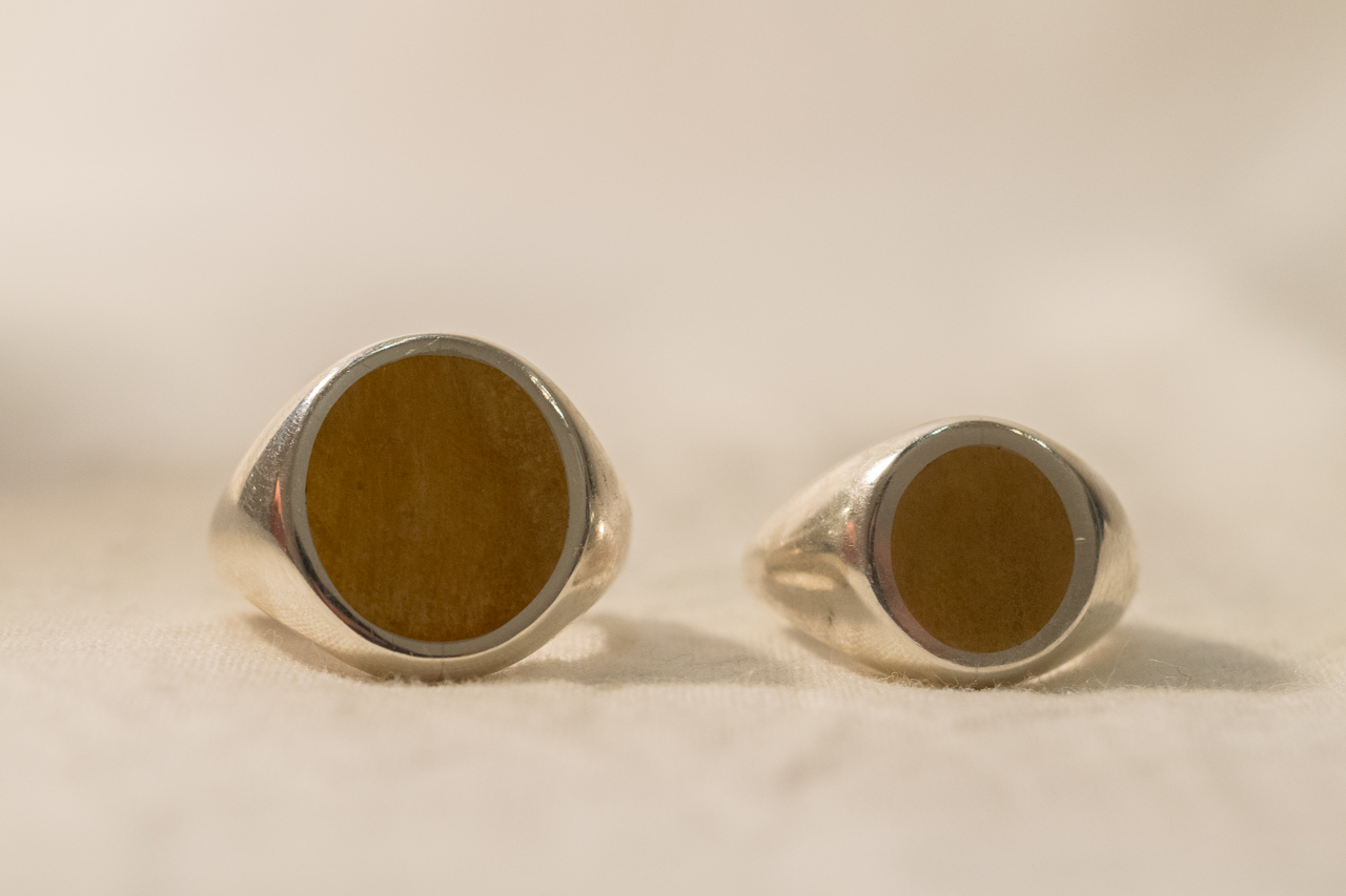 Brass×Silver Combination Signet-ring経年変化