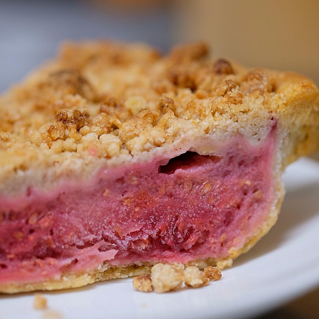 ひんやりスイーツ「フローズンアップルパイ」が完成!りんごとラズベリーをミックスしました