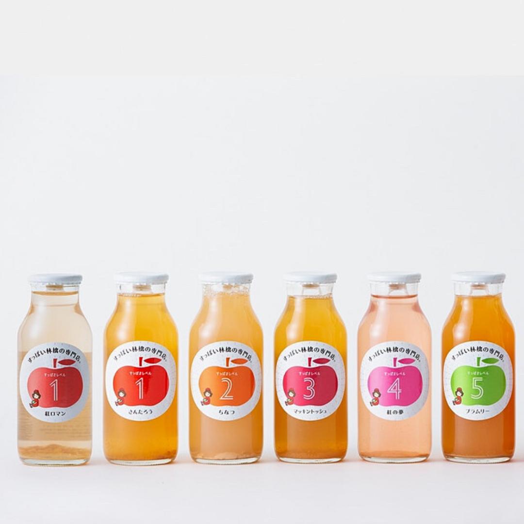 飲み比べが楽しいりんごジュース!夏のギフトにもおすすめです
