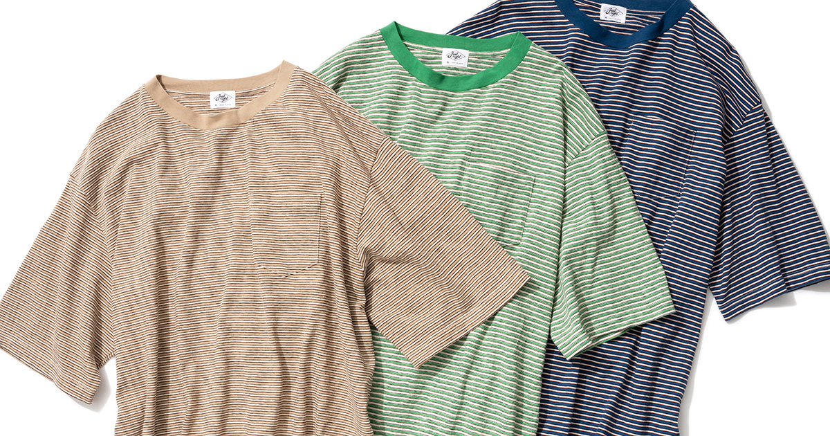 Multi Border Tee S/S - New Pattern, 3 Color