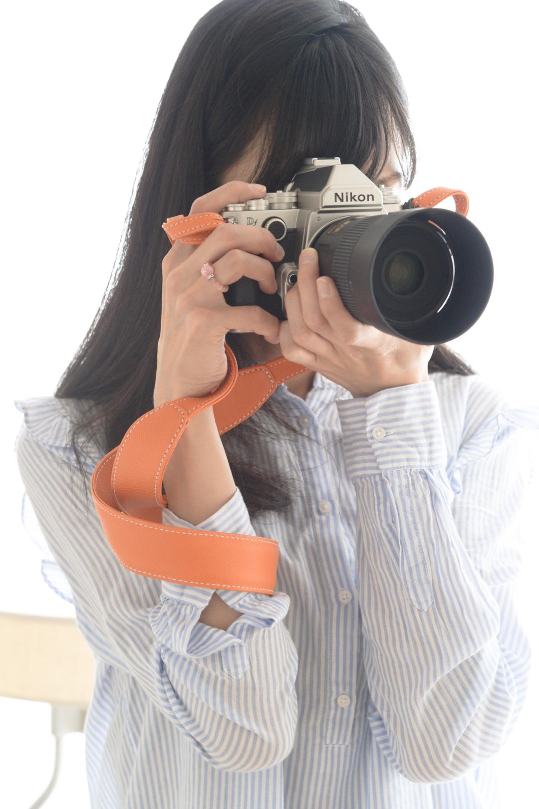 レザーストラップ使用写真