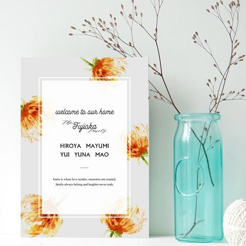 春にピッタリ!お部屋にも春の空気感を与えてくれるお花柄のウェルカムボード