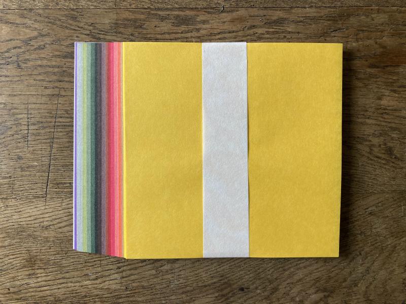 新商品:8/30より発売の実りの季節限定配色15cm和紙折り紙と、9月販売終了アイテム追加のお知らせ